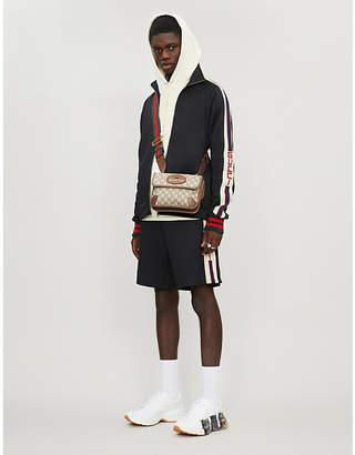 Gucci Logo stripe cotton-blend jacket