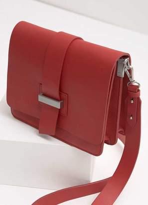 Mint Velvet Red Structured X Body Bag