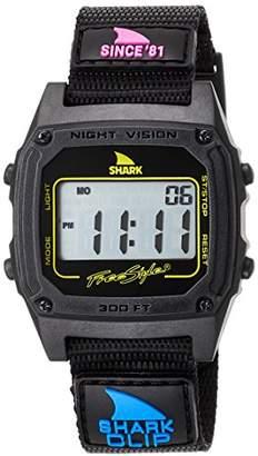 Freestyle (フリースタイル) - [フリースタイル]Freestyle 腕時計 SHARK CLIP デジタル 100m防水 ナイロンベルト 復刻カラー ブラック 101006 【正規輸入品】