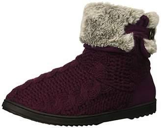 Dearfoams Women's Cable Knit Boot Slipper XL Regular US