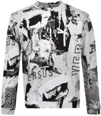 Versace Printed Sweatshirt White