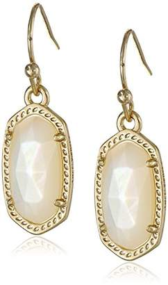 Kendra Scott Signature Lee Earrings in Gold Plated and Ivory Mother-Of-Pearl