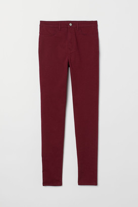 H&M Super Skinny High Jeans - Red