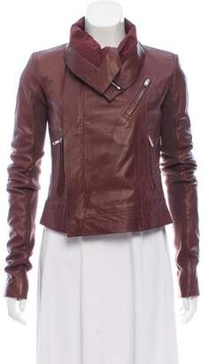 Rick Owens Structured Leather Jacket w/ Tags
