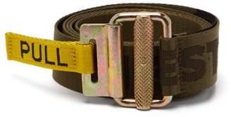 Heron Preston - Logo Jacquard Tape Belt - Mens - Green