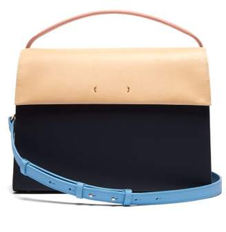 Pb 0110 Ab68 Leather Shoulder Bag - Womens - Navy Multi