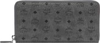 MCM Zip Around Wallet In Visetos Original