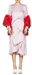 Sies Marjan Women's Jordi Shearling Scarf-Coral