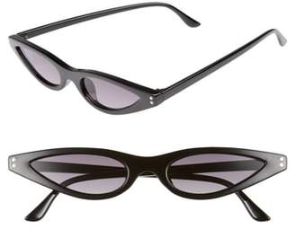 Leith 55mm Extreme Wide Cat Eye Sunglasses