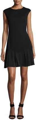 Rebecca Taylor Crew Neck A-Line Dress