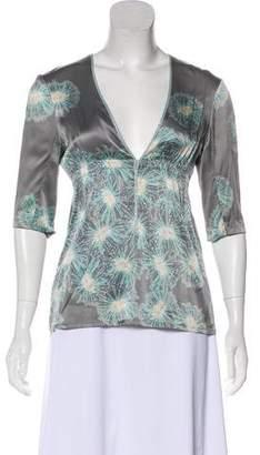 Rebecca Taylor Silk Long Sleeve Top