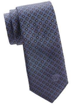 Versace Chain-Link Silk Tie
