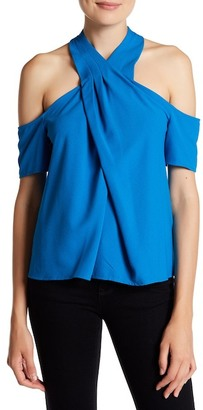 Rachel Rachel Roy Cold Shoulder Halter Blouse $89 thestylecure.com