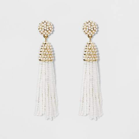 SUGARFIX by BaubleBar Beaded Tassel Drop Earrings
