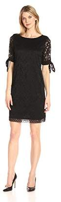 Ronni Nicole Women's Short Tie Sleeve Lace Shift