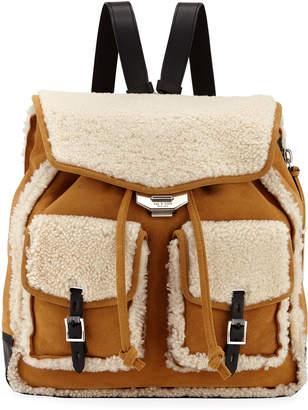 Rag & Bone Field Shearling and Suede Backpack