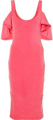 Nicole Miller cold shoulder dress $295 thestylecure.com