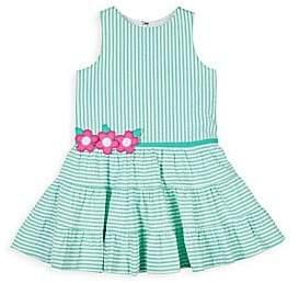 f3ad660cf7de Florence Eiseman Stripe Seersucker Sleeveless Dress