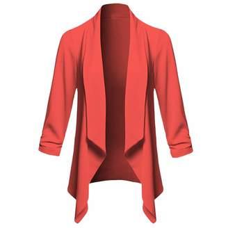 AMSKY Jacket for Toddler Girls,Womens Solid Open Front Cardigan Long Sleeve Blazer Casual Jacket Coat,Women's Coats, Jackets & Vests