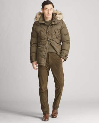 Ralph Lauren RLX Faux Fur-Trim Down Parka