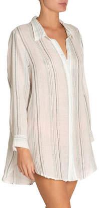 Eberjey Jack Striped Coverup Beach Shirt