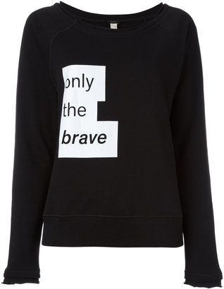 Diesel motto print sweatshirt $47.11 thestylecure.com
