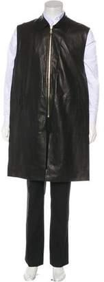 Givenchy Sleeveless Leather Jacket