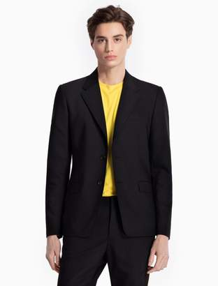 Calvin Klein slim fit 2-button cotton stretch blazer