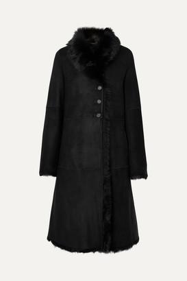 Joseph Luke Shearling Coat - Black