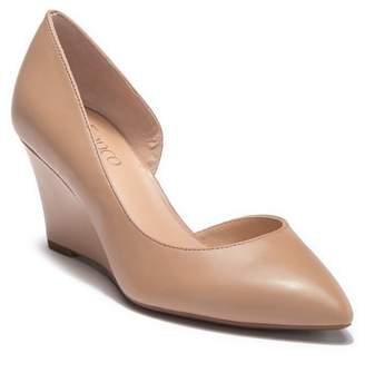 cb5659dec6b Franco Sarto Felice Leather d Orsay Wedge Pump - Wide Width Available