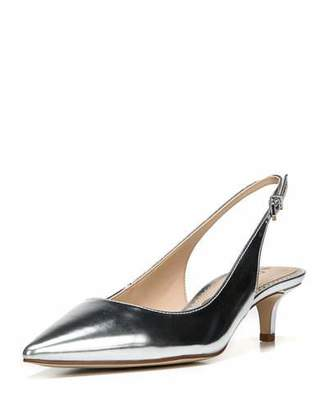 Sam Edelman Ludlow Pointed Metallic Leather Slingback Pump
