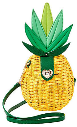 Betsey Johnson Pineapple Straw Cross-Body Bag $88 thestylecure.com