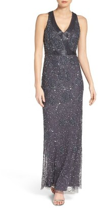 Women's Adrianna Papell Mesh Column Gown $349 thestylecure.com
