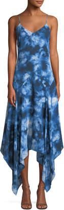 Michael Kors Asymmetric Tie-Dye Silk Midi Dress