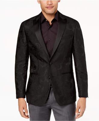 Tallia Orange Men's Modern-Fit Black Large Tonal Paisley Dinner Jacket