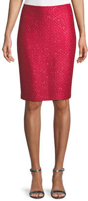 St. John Shimmer Sequin Knit Skirt