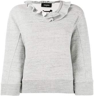 DSQUARED2 ruffled neck sweatshirt