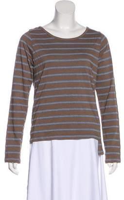 Monrow Striped Long Sleeve Top