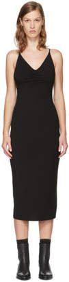 Alexander Wang Black Shirred Cami Dress
