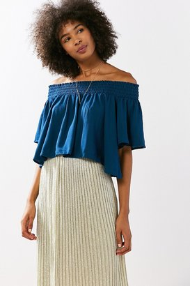 Kimchi Blue Smocked Off-The-Shoulder Top $59 thestylecure.com