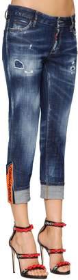 DSQUARED2 Super Skinny Med Wash Cotton Denim Jeans