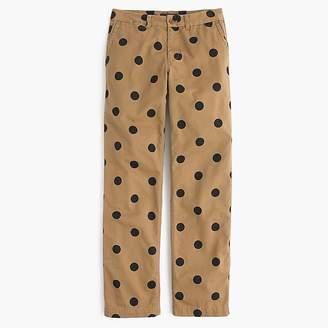 J.Crew Tall boyfriend chino pant in polka dot