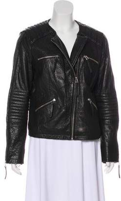 Whistles Leather Moto Jacket