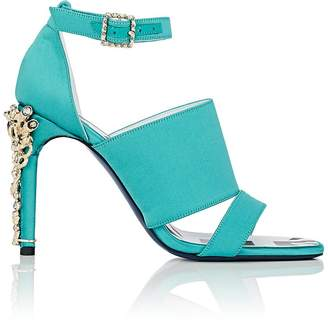 Koche Women's Jeweled-Heel Satin Sandals