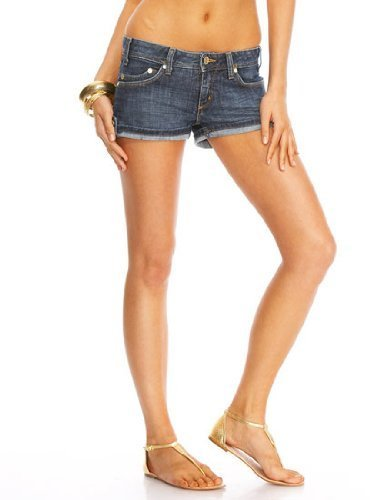 Side Tab Cuffed Denim Short