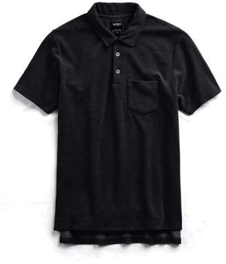 Todd Snyder Terry Polo in Black