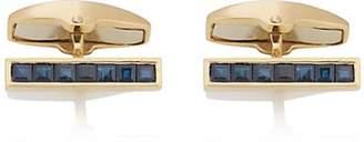 Deakin & Francis Men's Sapphire Cufflinks - Gold