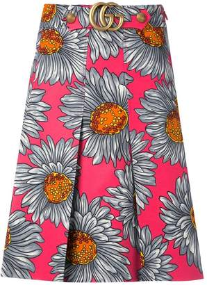 Gucci daisy print skirt