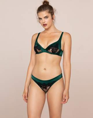 Agent Provocateur Anais Ouvert Green and Black