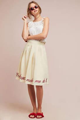 Eva Franco Viaje Embroidered Skirt